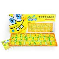 【特宝儿】海绵宝宝英文字母儿童早教拼图玩具
