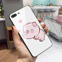猪年苹果6splus手机壳新年iPhone7保护套潮男情侣款8plus个性创意xs max玻璃卡通x包边oh no爱心