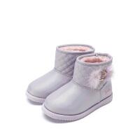 【99元任选2双】迪士尼Disney童鞋女童雪地靴靴子时尚马丁靴 K01365 S73570 S75887