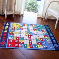 飞行棋地毯毛绒爬行垫 游戏毯榻榻米桌垫 多人娱乐休闲互动游戏 儿童潮人玩具 丙纶乳胶130*100CM