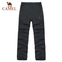 camel骆驼户外 秋冬新款 男款户外双层 透气休闲冲锋裤
