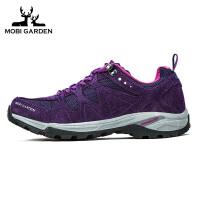 牧高笛户外徒步登山低帮耐磨防滑透气减震内底秋冬季徒步鞋 女款