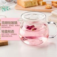 玻璃杯茶�刂笈莶�剡^�V茶具大小家用花茶杯玻璃�靥籽b