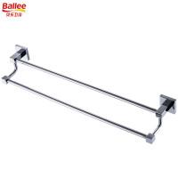 贝乐BALLEE G6210 全铜双杆毛巾架浴室挂件浴巾架 50cm
