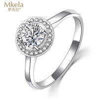 梦克拉 18k群镶结婚求婚钻石戒指 结婚钻戒 60分钻石戒指 香邂