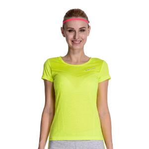 【折上1件5折 2件4折】361度运动T恤女2018新款秋季跑步透气短袖