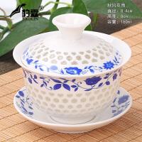 大号单个三才泡茶功夫陶瓷茶具青瓷盖碗茶杯茶碗