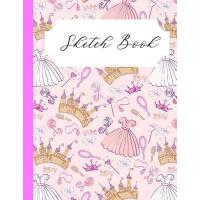 【�A�】Pink Princess Sketch book: Cute Gift For Girly Girls Who