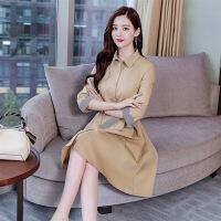 新女士外套好看衣服2018秋季时尚新款京东今年流行秋天裙式风衣女士外套