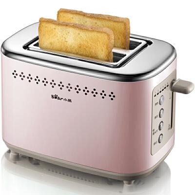 小熊(Bear)烤面包机家用2片早餐吐司机 全自动多士炉 DSL-C02D2全金属机身 6档烘烤 一键式防卡死设计