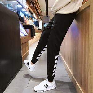 青少年港风新款修身束脚男士韩版休闲裤青年运动裤子哈伦长裤2