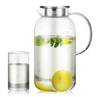 家用套装凉水壶玻璃水壶透明凉水杯冷水壶