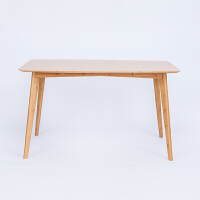 当当优品 橙舍原创小户型长方形原竹实木餐桌 北欧式简约现代家用饭桌餐台 单桌子