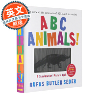 英文原版童书 3D立体动画书 ABC Animals!: A Scanimation Picture Book 动物A