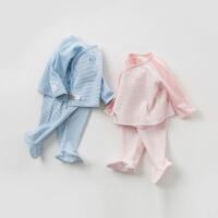 [领��400减80]戴维贝拉2019秋冬装新款男女宝宝婴幼儿内衣两件套DBH9982