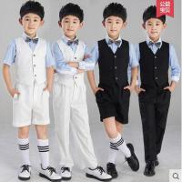 小花童礼服儿童韩版百搭演出服套装主持人男童正装走秀背带裤男户外修身