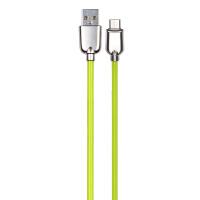 英米 荧光安卓通用数据线S10 绿色