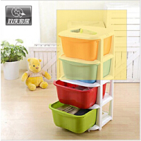 双庆 宝宝抽屉式整理柜衣物收纳柜塑料玩具收纳箱储物柜时尚收纳柜 儿童玩具柜 三层收纳柜 两款可选