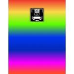 预订 Sheet Music Notebook: Rainbow Stripes - Blank Sheet Musi