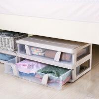泰蜜熊大号床底收纳箱扁平抽屉式塑料收纳盒床下被子整理箱衣服储物箱