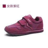 女鞋2019年秋款中老年妈妈鞋舒适透气软底防滑运动休闲老人鞋