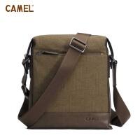 【热卖】CAMEL骆驼 帆布男包 单肩包 斜挎包 卡其MB018128-01