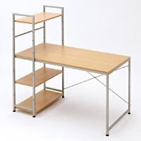 【品牌直供】日本SANWA 台湾制造100-DESK064 简易风格办公桌(配书架)台式电脑桌书架书柜书桌组合台式家用写字台办公桌子