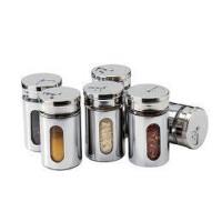 钱龙 厨房宜家风格 调料罐 调味瓶不锈钢2个装
