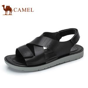 camel骆驼男鞋夏季新品男士简约舒适透气沙滩凉鞋露趾凉鞋男