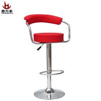 惠万家时尚吧台椅创意电脑椅子家用休闲可升降靠背转椅美甲椅高椅子简式