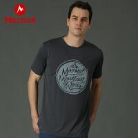 【土拨鼠超级品牌日】Marmot/土拨鼠运动户外春夏棉感速干吸湿排汗男士短袖T恤
