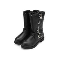【119元任选2双】迪士尼童鞋女童靴子保暖时尚女靴DS1911