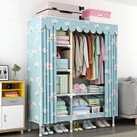 老睢坊 简易衣柜组装布衣柜钢管加粗布艺衣柜卧室家用收纳柜全钢架衣橱