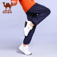 camel小骆驼童装2017年秋冬新款男童束脚裤棉裤儿童运动裤防风保暖长裤