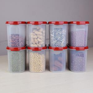特百惠 MM椭圆储藏超值8件套 椭圆2号干货保鲜盒杂粮盒