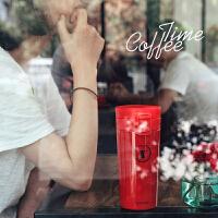 不�P�保�乇�男女士�r尚��意咖啡杯便�y�S手直身水杯子