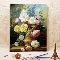 数字油画特价客厅风景 雍容华贵 40*50CM 手绘情侣花卉装饰画壁画 儿童益智 成人休闲佳品