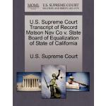 【预订】U.S. Supreme Court Transcript of Record Matson Nav Co V