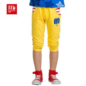 季季乐jjlkids童装男童夏季大童裤子短裤纯棉休闲七分裤中大童短裤BXK53082