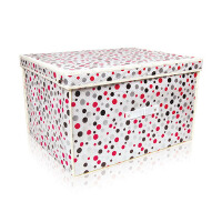 [当当自营]百草园 圆点整理箱大号 收纳箱 柜 优品优质收纳盒