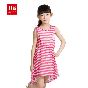 季季乐夏季童装女童夏装吊带背心连衣裙中大儿童条纹短裙GXQ53212