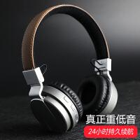 Liweek 蓝牙耳机 无线头戴式 4.0 重低音插卡 音乐 运动耳麦 手机电脑通用 支持TF卡 可折叠 可拉伸震撼低音蓝牙耳麦