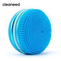 cleaneed 洁面仪 硅胶电动毛孔清洁去黑头美容按摩洗脸仪 深层净透 迪丽热巴同款 马卡龙系 蓝莓