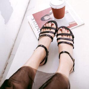 O'SHELL欧希尔新品057-1770韩版平底鞋女士凉鞋