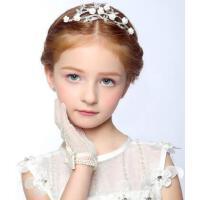 甜美新款花童头饰儿童发饰女童花朵公主皇冠花童头饰儿童婚纱礼服头饰配饰