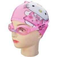莱卡 可爱PU卡通儿童游泳帽 儿童 泳帽 泳镜