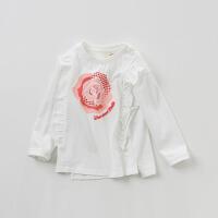 戴维贝拉kids春季新款女童打底衫 中大童印花T恤DBK9102