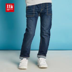 季季乐童装男童裤子春秋季深蓝色牛仔裤童裤中大童长裤BQK61141