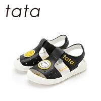 【99元任选3双】他她tata童鞋儿童凉鞋2019夏季新款时尚中大童女童鞋男童韩版运动软底鞋子W80184