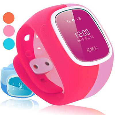 儿童智能定位电话手表手机插卡通话GPS定位苹果安卓手环防水学生GPS定位 计步睡眠监测